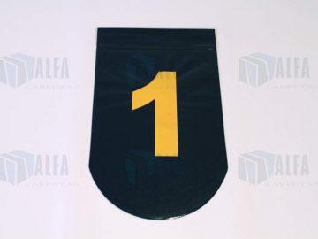 Banderin con numeracion para carriles de alberca
