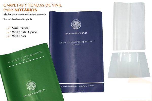 Forros notariales para documentos legales con impresion