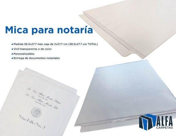 Material protector para notaria plastico impreso