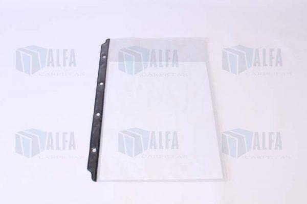 Protector de hojas oficio con ceja reforzada para uso continuo