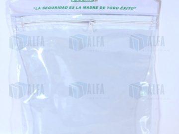 Bolsillo colgante plástico transparente para formatos de seguridad