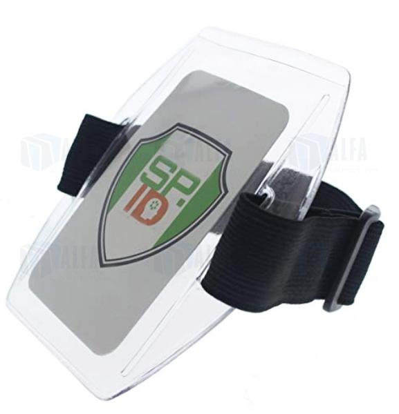 Portagafete identificador de brazo con credencial