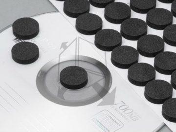 Goma fomi para colocar discos en carpetas folders revistas