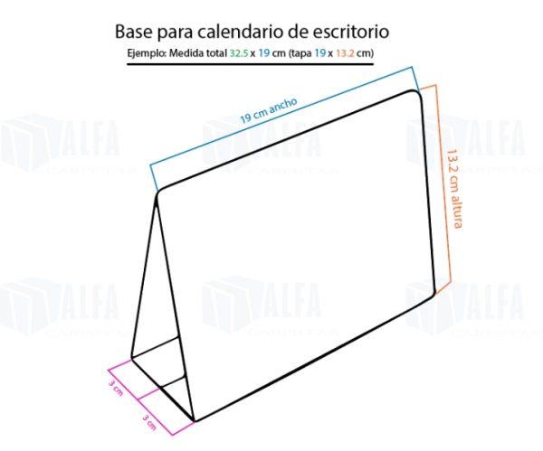 Diagrama base de calendario montado