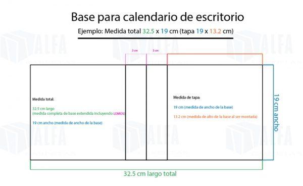 Diagrama base de calendario plano