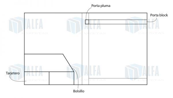 diagrama Folder congreso curpiel cosido