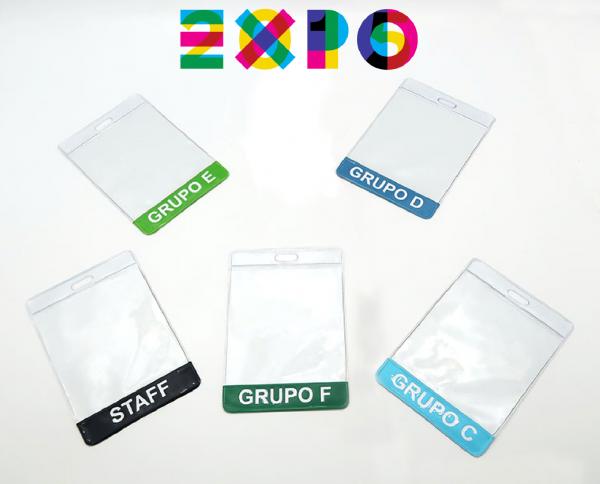 Gafete identificador para exposiciones y ferias