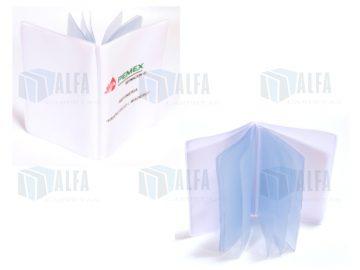 Porta credencial de gran capacidad tamaño tarjeta transparente sellado plastico Vinil