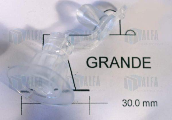 Valvulas para inflar sellada flexible transparente grande