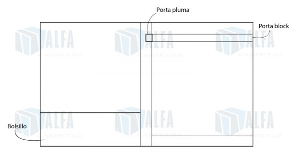 interior de folder portablock