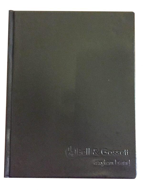 Folder en vinil sellado con grabado a calor negro