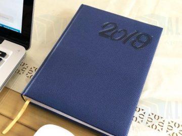 agendas de escritorio dia por dia con liston promocional