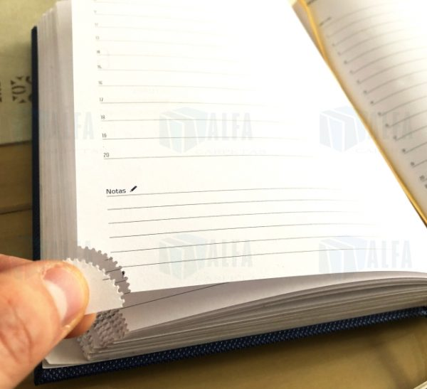 Agenda diaria de escritorio empastada corte en punta