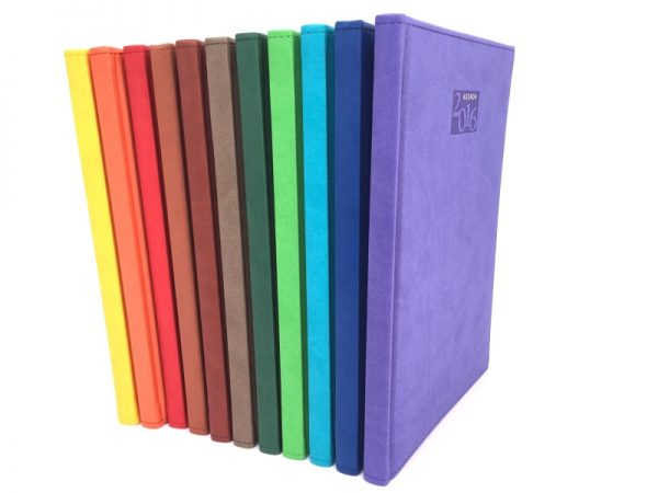 Agendas importadas personalizables de colores escritorio semanal