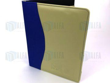 Folder dos colores tela y piel sintética con grabado para eventos