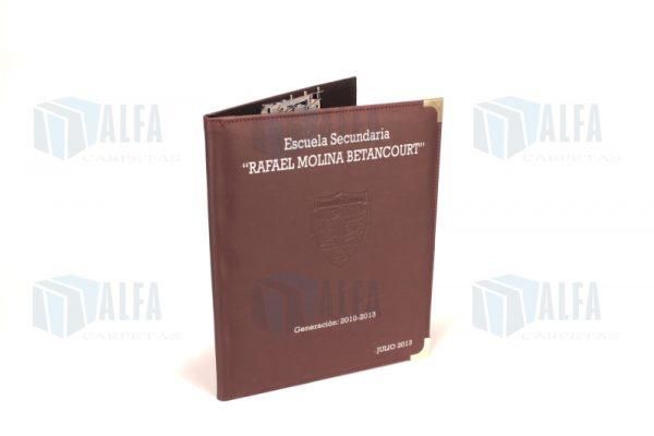 Folder curpiel con broche de presion (DRUK)
