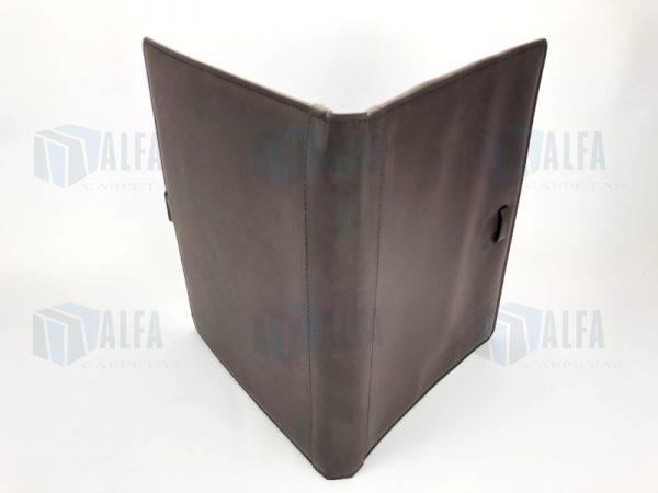 Folder curpiel con fuelle exterior IBID