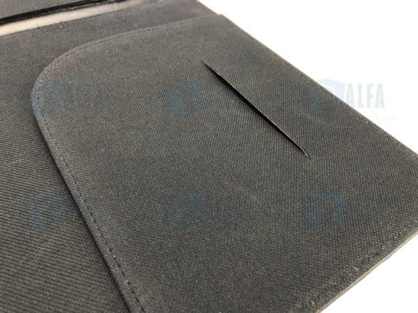 Folder curpiel y poliester solapa (DOM)