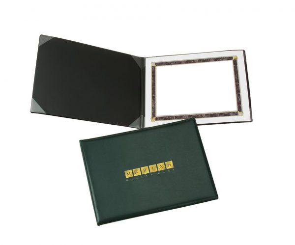 Folder portadiploma vinil sellado horizontal uso