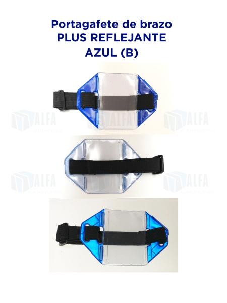 Gafete brazo Plus Reflejante AZUL (B)