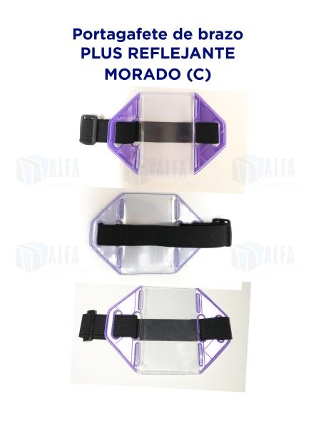 Gafete brazo Plus Reflejante MORADO (C)