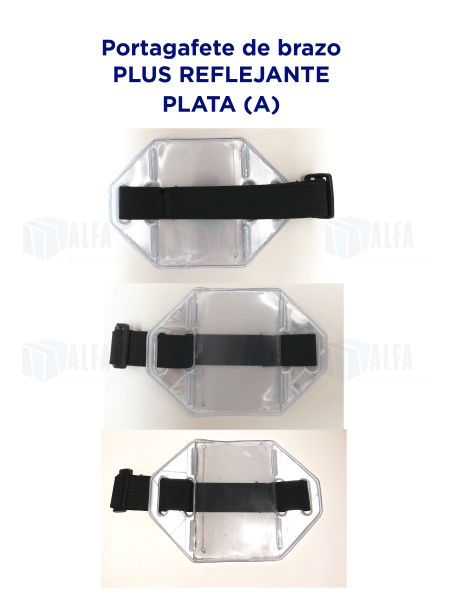 Gafete brazo Plus Reflejante PLATA (A)