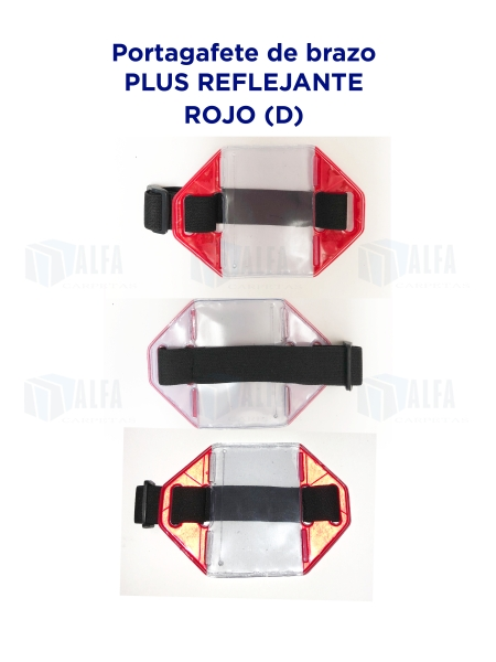 Gafete brazo Plus Reflejante ROJO (D)