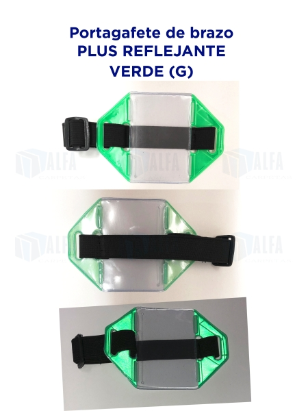 Gafete brazo Plus Reflejante VERDE (G)