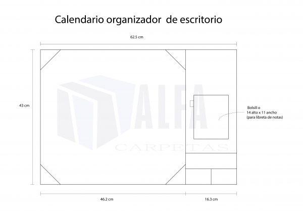 Calendario organizador diagrama