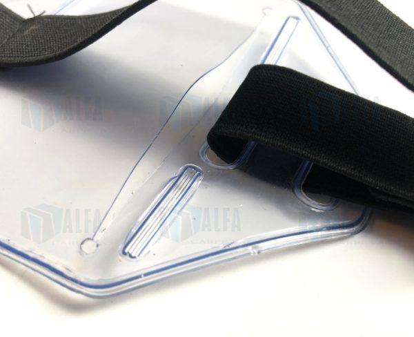 Detalle gafete plus entrada suaje