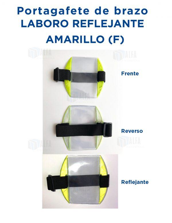 Gafete brazo LABORO Reflejante AMARILLO (F)
