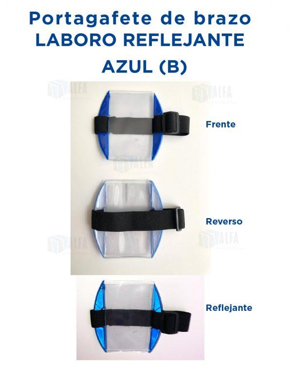 Gafete brazo LABORO Reflejante AZUL (B)