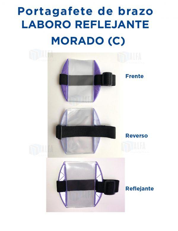 Gafete brazo LABORO Reflejante MORADO (C)