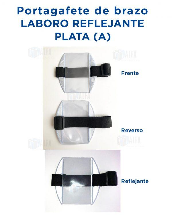 Gafete brazo LABORO Reflejante PLATA (A)
