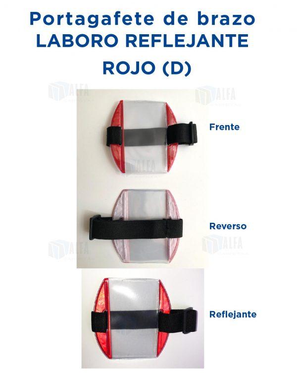 Gafete brazo LABORO Reflejante ROJO (D)