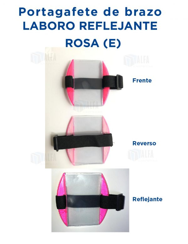 Gafete brazo LABORO Reflejante ROSA (E)