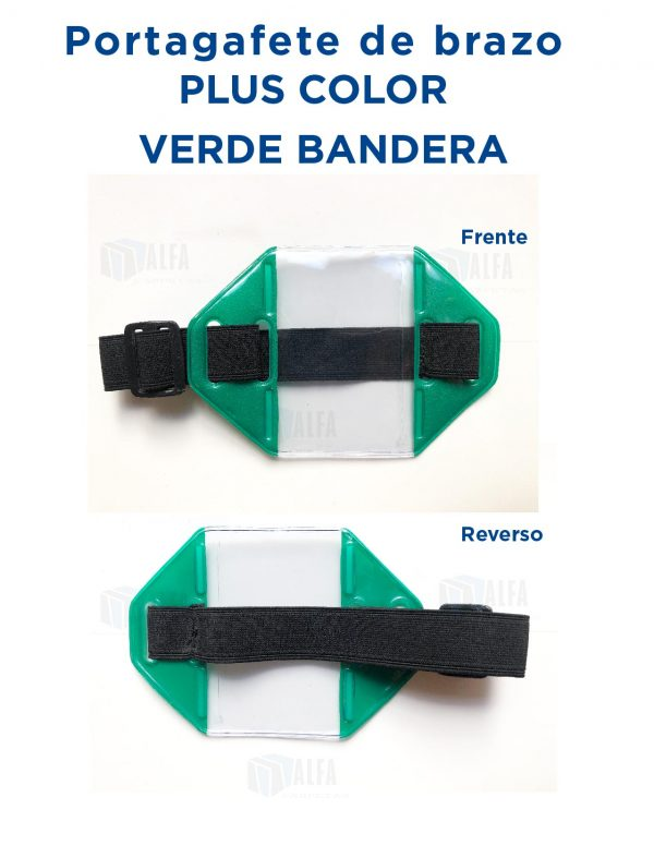 Gafete brazo Plus COLOR VERDE BANDERA