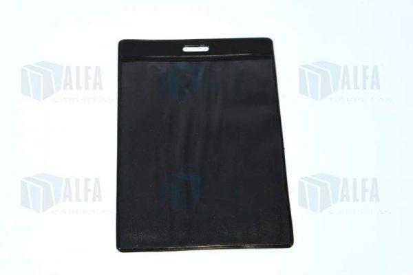 gafete en vinil color negro