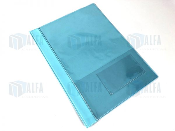 folder vinil con cuberta transparente para presentacion de informes