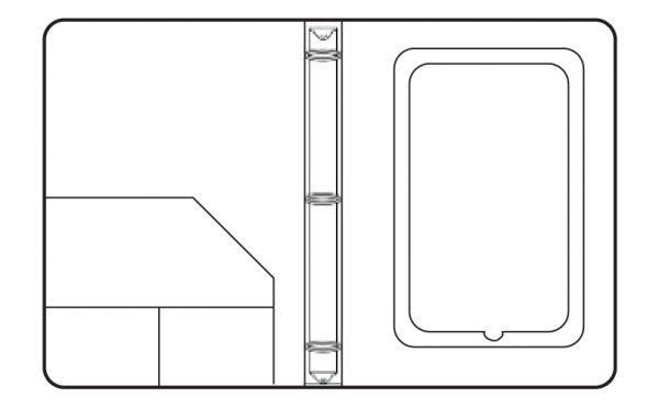 Diagrama carpeta cierre ipad