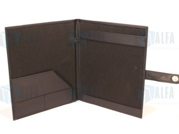 Carpeta para eventos con porta block de notas con lengueta y broche de iman