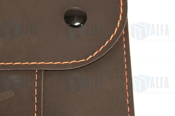 Detalle sobre curpiel soporte tela doble broche