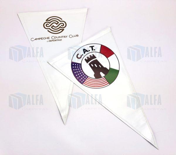 banderin lona resistente impreso
