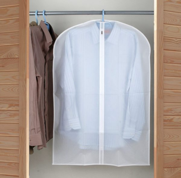 Porta trajes plastico transparente