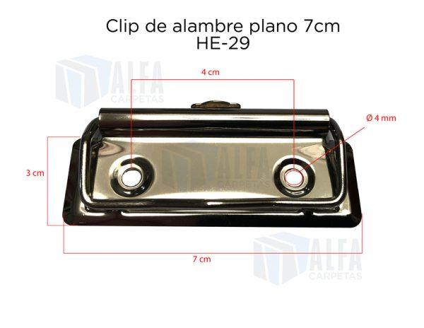 Clip de alambre plano para tabla de 7 cm