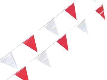 linea de banderines rojos con blanco para venta